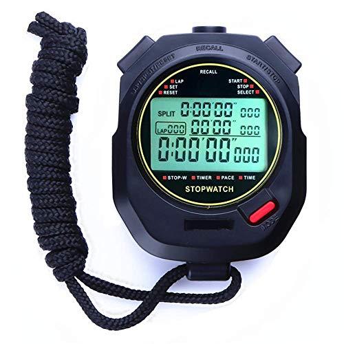 LQH Sport Stoppuhr Sport Stoppuhr 200 Runden Speicher Timer for Trainings-Schwimmen Jogging Fitness Basketball (Farbe: Schwarz, Größe: 7.5x6.2x2.1cm) (Color : Black, Size : 7.5x6.2x2.1cm)