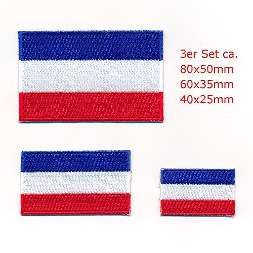 3 Nederlandse vlaggen vlaggen Amsterdam Den haag patch patch opnaaimachine set 1001