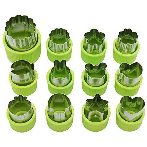 Tauner Formine per formine per biscotti Formine per alimenti per bambini Forme per taglierine per verdure con protezione antiscivolo Strumenti per maniglie Accessori per cucina (verde)