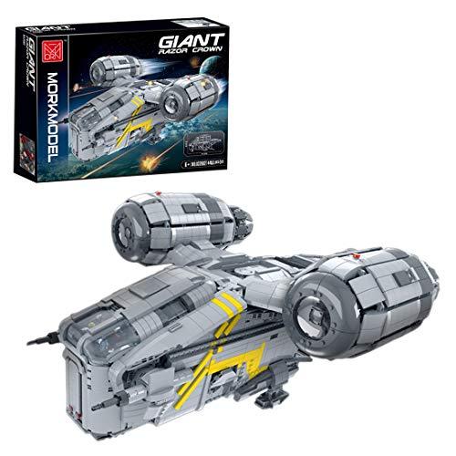 OSoMax Groß Mandalorianer Razor Crest Raumschiff, Kompatibel mit Lego Star Wars Raumschiff UCS - 4453 Teilen