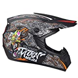 Cascos para hombre Full Face Night Vision MTB Cascos integrales Motocross Cascos Amazon Motocross Cascos Youth Motocross Helmet Stickers