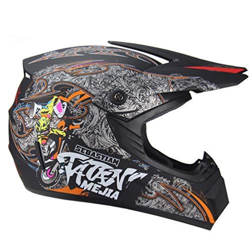 Motocross Helm Motorradhelm Motocross helme MTB Integralhelme Motorradhelme Herren mit Handschuhen und Schutzbrille