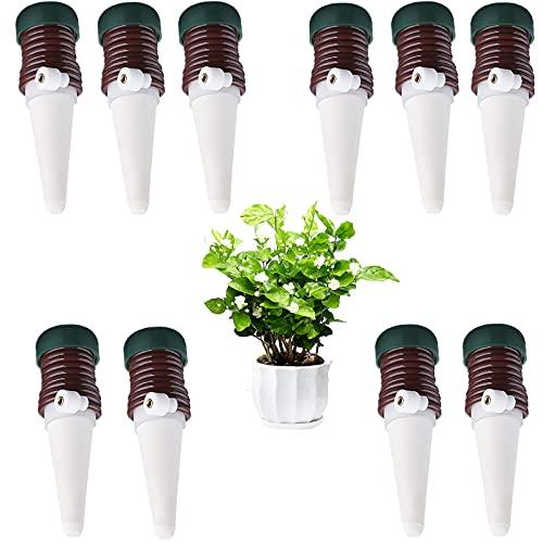 Automatische Bewässerungssystem 10 PCS Automatisches Pflanzenbewässerungs set Perkolator Tropfbewässerung von Gartenpflanzen Blumen für Drinnen und Draußen Urlaub Blumentöpfe Wasserspender
