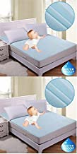HomeStore-YEP Waterproof Double Bed Mattress Protector (72 x 76 x 6 Inches, Blue)