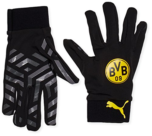 PUMA Spielerhandschuhe BVB Field Player Gloves, Black/Cool Gray/Cyber Yellow, 8