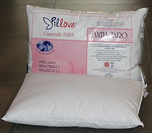 Oreiller pour berceau en coton et fibre hypoallergénique, 40x 60cm