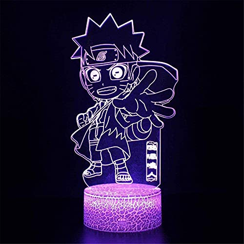 3D Illusion Led Lamp Naruto Uzumaki C 16 Color USB Touch & Remote Control Table Lamp Night Light for Baby Bedroom Lamp Sleeping Light Boy Kid Gift