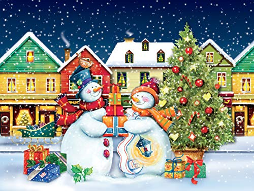 Ceaco Tis The Season - Snow Couple Jigsaw Puzzle, 550 Pieces