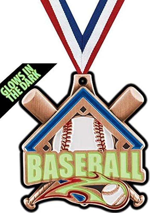 Crown Awards Bronze Baseball Medals - 2