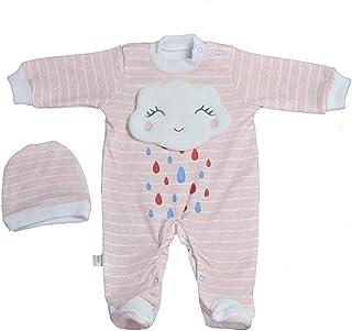 Baby Shoora botanical fibers baby bodysuit printed Rain for girls simon-0-3Month