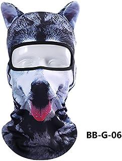 e94b1b8eee3ce Cagoule Masque de Protection Visage Unisexe, ChunTian Design 3d Animal  Masque Complet anti UV Respirant