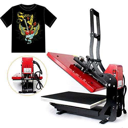 Fetcoi Prensa de transferencia, prensa térmica, 2000 W, 40 x 50 cm, magnética, semiautomática, para ropa, multifunción, prensa de calor, pantalla táctil LCD