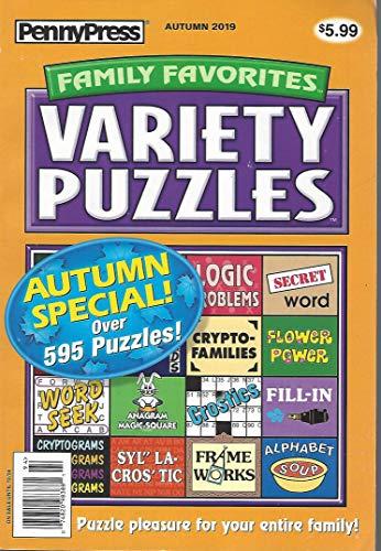 PennyPress Family Variety Puzzles Autumn 2019