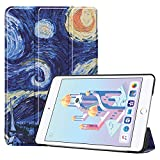 iPad Mini 2019 5th Generation 7.9'/iPad Mini 4 2015, UZER Colored Drawing Series Lightweight PU Leather Smart Case Protective Folio Trifold Stand with Soft TPU Back Cover for iPad Mini 5/ iPad Mini 4
