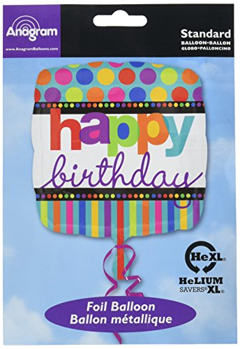 falksson, Palloncino per Compleanno, Motivo: Pois e Strisce