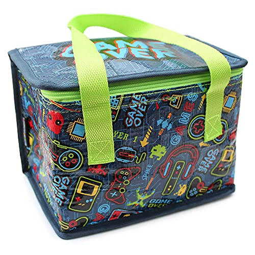 Fashion Stationery Kids Boys Fold Up Lunch Box Bag with Gamer Console...