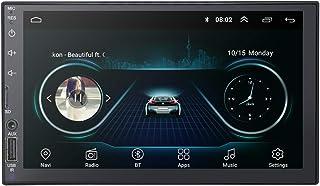 7 Zoll Doppel Din Android 9.0 Universal Radio GPS Bluetooth AM/FM Spiegel Link WiFi USB HiFi DTV in TPMS Rückfahrkamera Autoradio
