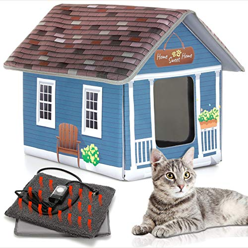 PETYELLA Cat Houses for Outdoor Cats - Heated Cat Bed - Heated Cat House -...