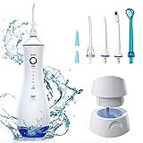 LALAYA Irrigador Dental Portátil, 6 Modos de Limpieza y 7 Boquillas Giratorias,PX7 Irrigador Bucal Impermeable USB recargable, Irrigador Oral 260 ml de capacidad, para el hogar / viajes / oficina