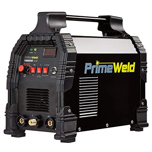 PRIMEWELD TIG/Stick TIG200-DC Welder 200Amp with Pedal Inverter Power Welding for Stainless Steel, Carbon, Copper and Other Metal 3 Year Warranty