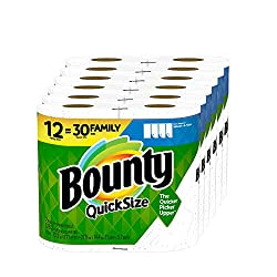 commercial Bounty Quick Size Paper Towel, White, 12 Family Rolls = 30 Normal Rolls costco white towels