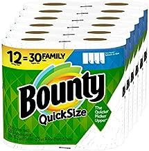 Bounty Quick-Size Paper Towels, 12 Family Rolls = 30 Regular Rolls