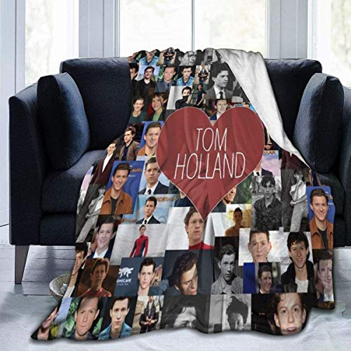 LLMMM Manta de franela I Love Tom-Holland Collage Covers Manta para cama sofá salón verano grande 127 x 101,6 cm para adultos