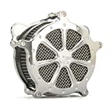 Kit de filtro de aire de motocicleta de filtro de aire cromado para Harley 2004-2008 XL883 Sportster 2007 XL50 50th Anniversary