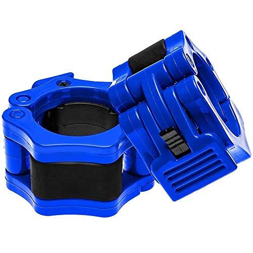 Reehut バーベルカラー バーベルクリップ ダンベルカラー バーベルプレート50mm用 止め スクリューシャフト対応 2個セット ブルー