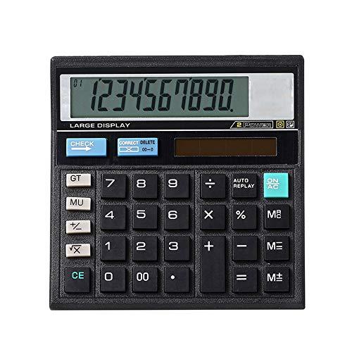 Mengshen Calculadora Sobremesa Batería Solar Pantalla LCD de 10 dígitos de Doble Potencia con botón Sensible Grande Productos básicos de Oficina Máquina de cálculo electrónica Multifuncional