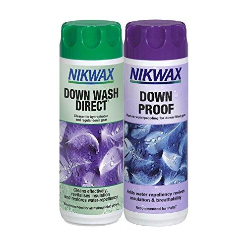 Nikwax Daunen Wash Direkt & Down Proof Doppelpack Waschmittel & Waschimprägnierung (300ml x2)