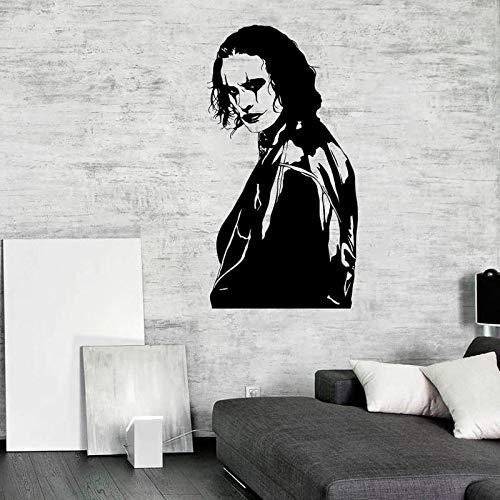 Rfokun Krähe Wandtattoo Vinyl Wandbild Comic Kunst Aufkleber Action Film Fan Poster Innen Grafikdesign 74x140cm