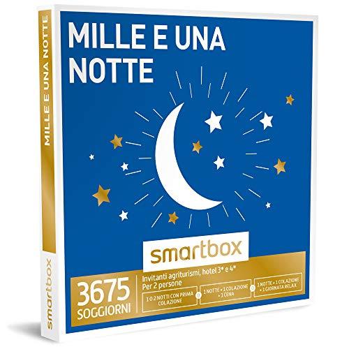 Smartbox - Mille e Una Notte - 3675 Soggiorni Con Possibilità Di Cena o Momento Relax In Agriturismi e Hotel 3* e 4*, Cofanetto Regalo Gastronomici