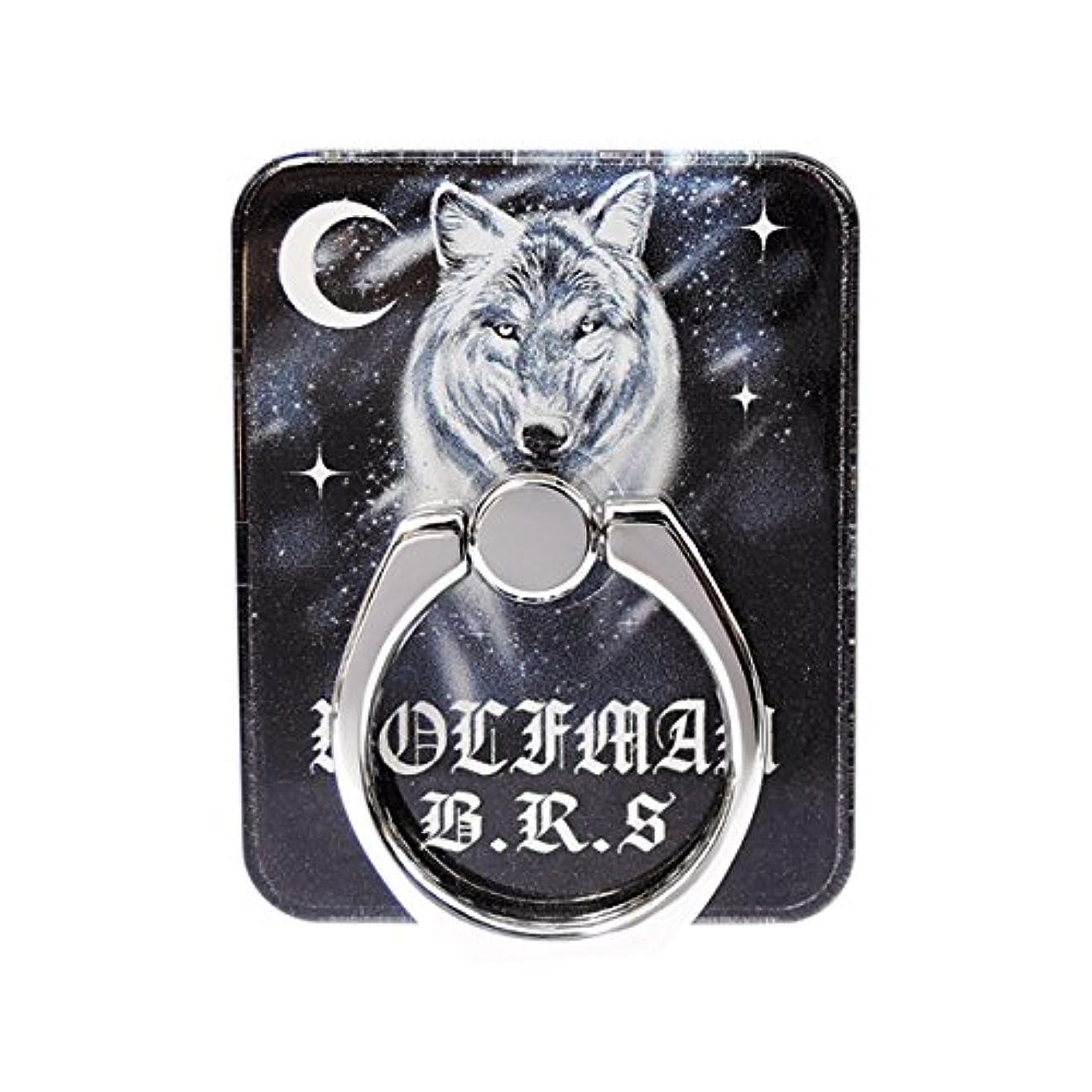離婚できないWOLFMAN B.R.S ウルフマンBRS シルバーアクセサリースマホリング 携帯アクセサリー 携帯 リング リアルウルフ