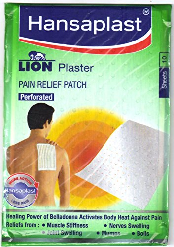 Hansaplast Lion plaster (Belladonna) 1 pack of 10 Sheets Pain Relief Patch by OMG-Deal