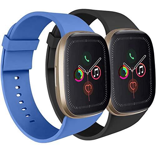 AK Armband kompatibel für Apple Watch 44mm 42mm 38mm 40mm, Sport Silikon Armband für Damen und Herren für iWatch Serie 5 4 3 2 1