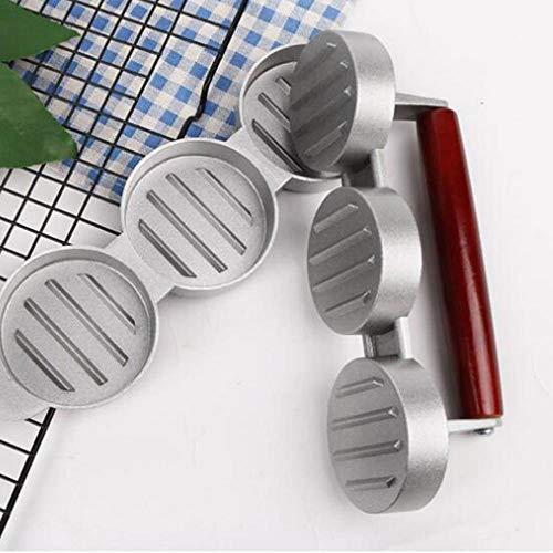 ELD Round Hamburger Presse Aluminiumlegierung Non Stick Burger Fleisch Rind Grill Press, Hamburger Haushaltsfleischpastete/klebriger Reis-Kuchen-Küche