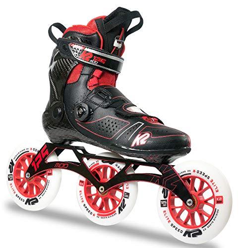 K2 Inline Skates MOD 125 Für Erwachsene Mit K2 Softboot, Black - Red, 30B0022