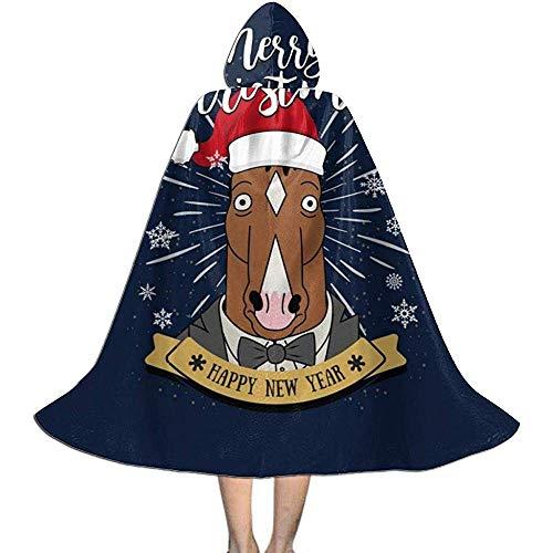 Not Applicable Disfraz De Mago,Feliz Navidad Bojack Horseman Suave Y Cmodo Capas De Mago para Disfraces De Brujos 118cm