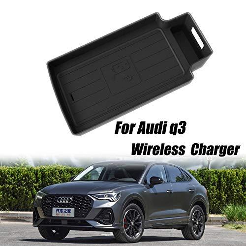 Liuwenju Cargador de Coche inalámbrico de ratón para el Audi Q3 10W QI de Carga rápida de Control centralizado automático de Bandeja Embedded Teléfono Ocultos de Carga automática del Sensor de