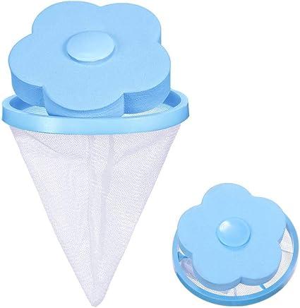 Wiederverwendbar Schwimmende Fussel Netz Beutel Wäsche Ball Haar Filter Neu DE