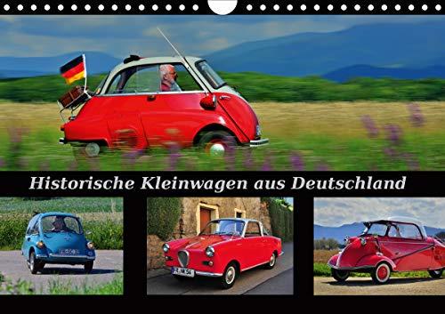 Historische Kleinwagen aus Deutschland (Wandkalender 2021 DIN A4 quer)
