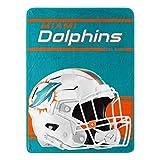 Northwest NFL Miami Dolphins 46x60 Micro Raschel Run Design RolledBlanket, Team Colors, One Size (1NFL059050010RET)