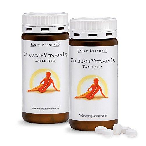Sanct Bernhard Calcium+Vitamin D3-Tabletten mit Calcium, Vitamin D3 2x 150 Tabletten