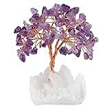 mookaitedecor Amethyst Kristallbaum mit Bergkristall als Basis und bewickeln mit Kupferdraht,...