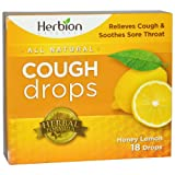 herbion naturals - pastiglie per la tosse al miele e limone(cough lozenges - honey lemon flavour) 18 counts