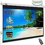 ABIS Pantallas eléctricas, manuales y trípode HD proyectores, varios tamaños (100 pulgadas eléctrico con mando a distancia HD 16:9)