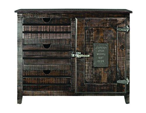 Treasure Trove One Door Three Drawer Cabinet, Dark Brown