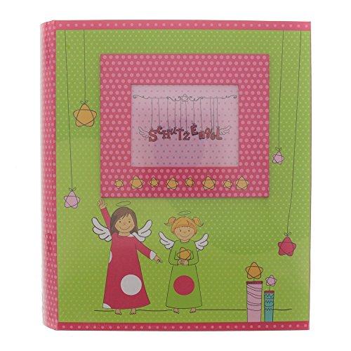 goldbuch 85058 Sammelbox Schutzengel, Aufbewahrungsbox ca. 26 x 24x 6,5 cm, Babybox mit 3 Schubfächern, Geschenke Box mit Tasche und Schleife, Erinnerungsbox mit lackiertem Kunstdruck Engel Motiv