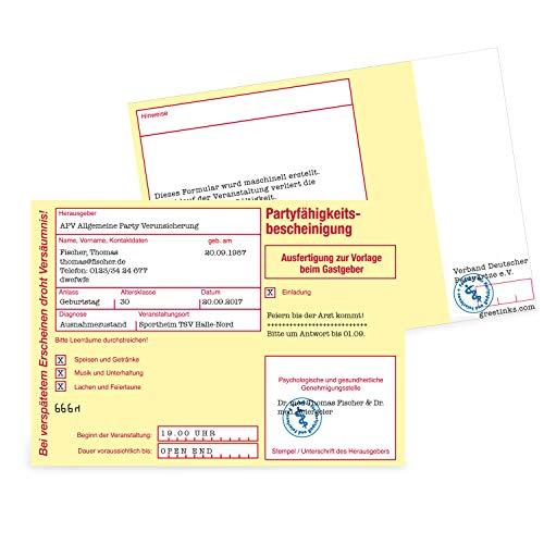 Einladungskarten zum Geburtstag - Krankmeldung | 80 Stück | Inkl. Druck Ihrer persönlichen Texte | Individuelle Einladungen | Karte Einladung